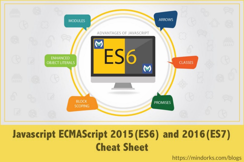 Most used Javascript ECMAScript 2015 (ES6) and ECMAScript 2016 (ES7) features